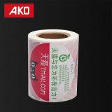 Las escrituras de la etiqueta de la etiqueta engomada de la impresión compensaron el papel termal impreso