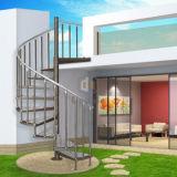 Escadaria ao ar livre da espiral do aço inoxidável com etapa de aço