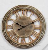 Horloge en bois antique ronde pour les arts à la maison