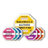 Желтый стикер 25g Shockwatch2 предупреждающий для упаковывая ярлыка удара