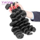 Colorir o cabelo frouxo brasileiro da onda de Remy do Virgin 8A cru de #1b