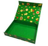 Rectángulo de regalo de empaquetado de papel de encargo caliente del alto grado para el día de la Navidad