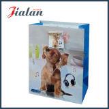 El animal barato imprimió la bolsa de papel impresa insignia de encargo laminada las ventas al por mayor