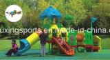 Kind-Spiel-Quadrat verwendetes im Freienspielplatz-Gerät