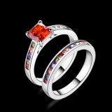 Kunstmatige Juwelen van de Ring Zircon van het Ontwerp K van de manier de Gouden Dubbele