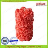 Schöne Blumen-Muster-Pfosten-Kerze für Verkauf