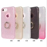 Funkeln-Handy-Fall des Ring-Halter-TPU Bling für iPhone
