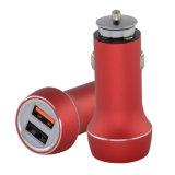 유일한 디자인 QC 3.0 이중 USB 차 충전기