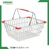 Металл супермаркета Highbright Stackable носит корзину для товаров ячеистой сети