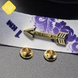 Fornitori Cina di Pin del risvolto di promozione placcati oro d'argento d'ottone
