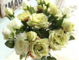 Mazzo poco costoso che Wedding il fiore artificiale di seta Rosa di tocco reale da vendere