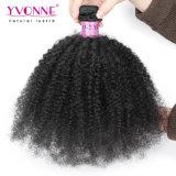 イボンヌの卸し売りバージンの黒人女性のためのブラジルのアフリカねじれた巻き毛の人間の毛髪の織り方