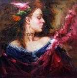 Indrukwekkend Nice Dame Figure Olieverfschilderij voor het Decor van de Muur