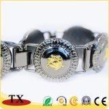 Bracelet noir antique personnalisé en métal pour le souvenir