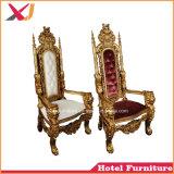 Sede di amore della presidenza del re e della regina di cerimonia nuziale del ristorante dell'hotel