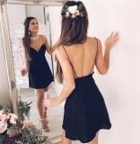 Оптовая продажа платья отрезока низкого уровня Chffion горячего высокого качества сбывания сексуальная