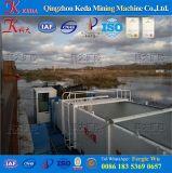 Barca dell'accumulazione di immondizia del fiume del canale