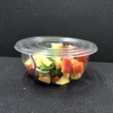 Taça de salada de plástico descartáveis com tampa