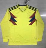 نوادي جديدة حارّ طويلة كم كرة قدم جرسيّ 2018 [سكّر متش] قميص 100% بوليستر [توب قوليتي] بدلة