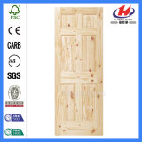 6 конструкций двери сосенки трасучки нутряного Veneer панели главным образом (JHK-006)