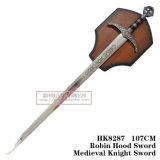 Espadas medievais da decoração das espadas das espadas da película 107cm HK8287