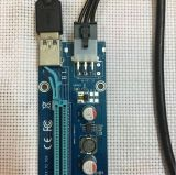 발광 다이오드 표시를 가진 새로운 009s 버전 PCI-E 라이저 접합기 카드