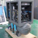 Kompakter Schrauben-Luftverdichter mit Luft-Becken und Trockner