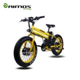 محترفة [أم] وسخ درّاجة كهربائيّة يشبع تعليق شوكة