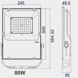Driver Meanwell Nichia/Osram tipo SMD3030 80W Holofote LED