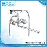 Rubinetto di lavaggio lungo della vasca di bagno del becco della maniglia del doppio di Boou