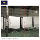 100 Zoll-beweglicher Bildschirm-Stativ-Projektions-Bildschirm mit weißem Mattgewebe