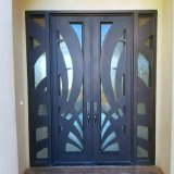 錬鉄の装飾的な外部ドアのGalssの現代ドア