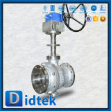 Tipo valvola a sfera di Didtek Dn25 10K Wcb V con pneumatico