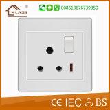 British Standard novo modelo de tomada de interruptor de parede electrónica