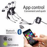 Van het LEIDENE van de Toebehoren van de auto LEIDENE Controlemechanisme Bluetooth van de Rots het Lichte RGB Licht van de Rots voor de Vrachtwagen van de Auto ATV UTV