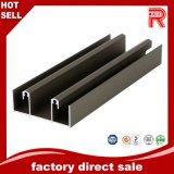 Profil en aluminium/en aluminium d'extrusion avec le noir anodisé pour le guichet et la porte