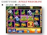A selva 20 Line&#160 selvagens; Máquina de jogo a fichas da máquina de jogo da máquina de jogo do entalhe