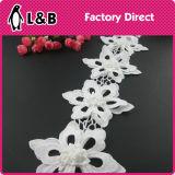 2016 branco decorativa Poly flor branca Lace aparar