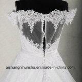 Appliques weg von der Schulter eine Zeile Hochzeits-Kleid liefern Kundenbezogenheit