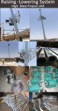 25m galvanisierten hohen Mast Polen mit anhebendem System