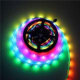 Magische LEIDENE van PCB van de Kleur van de Droom 5V Zwarte RGB Flexibele Geprogrammeerde Strook 2812