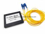 Rectángulo óptico del ABS del divisor del PLC de la telecomunicación 1X2 de Gpon de fibra