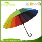 Автомобиля радуги ручки ЕВА хорошего качества зонтик напольного открытый прямой