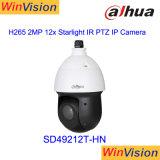 Cámara del CCTV de la red del IR PTZ de la luz de las estrellas de Dahua SD49212t-Hn 2MP 12X