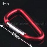 5# 알루미늄 Carabiner Keychain 의 Keychain, 선전용을%s 열쇠 고리를 가진 Carabiner를 가진 Carabiner 훅