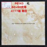 Azulejo de piedra esmaltado Polished lleno brillante del material de construcción de la buena calidad de Foshan