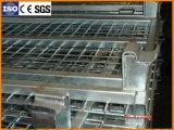 Zusammenklappbarer Stahlmaschendraht-Behälter für industrielle Lager-Zahnstange