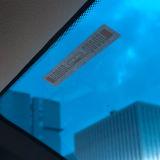 手段のアクセス制御システムのためのAln9629 H3のタンパーの証拠UHF RFID Winshieldの札