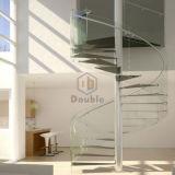 Scala a spirale di vetro Tempered dell'acciaio inossidabile