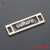 Lettre personnalisée Logo Doré a fait l'étiquette permanente sur le métal à coudre les étiquettes des sacs à main